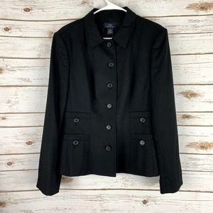 Brooks Brothers Women's Black Wool Blazer 16